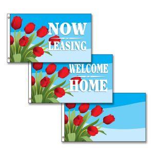 Horizontal Flags -  Spring Tulips