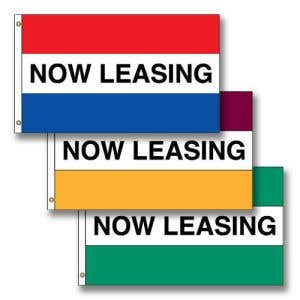 """Horizontal Flags -  """"Now Leasing"""""""