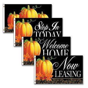 Horizontal Flags - Fancy Pumpkin