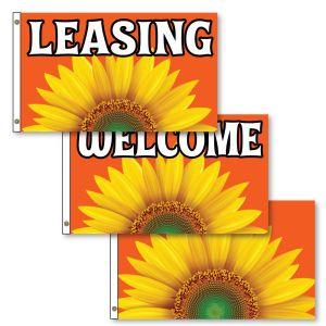 Horizontal Flags - Stunning Sunflower