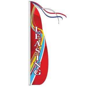 Wind Streamer Flag Only - Red Swirl