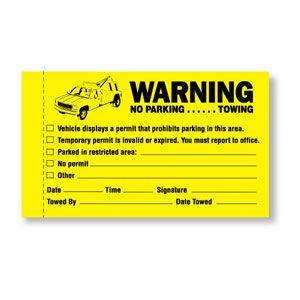 Parking Violation - Warning No Parking