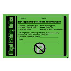 Parking Violation-Illegal Parking Notice