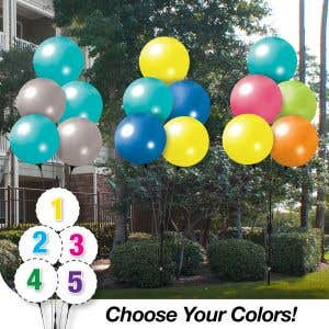 Pick Your Colors - 5 Reusable Balloon Cluster