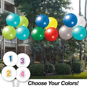 Pick Your Colors - Reusable Quad Balloon Cluster