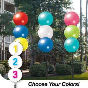Pick Your Colors - Triple Threat Balloon Cluster