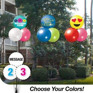 Pick Your Colors - Reusable Balloon Trio With Printed Message