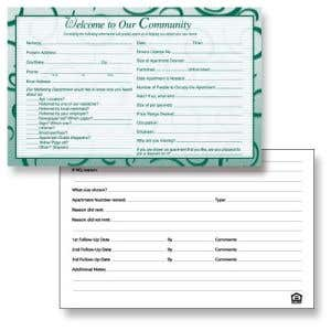 Guest Cards - Sophisticated Swirl
