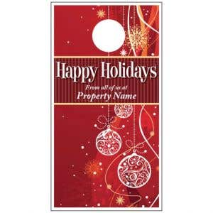 Holiday Door Hanger - Red Ornaments