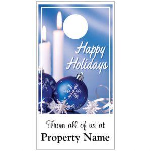 Holiday Door Hanger - Blue Ornaments