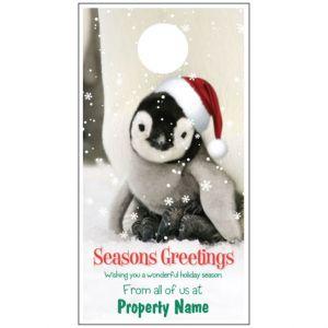 Holiday Door Hanger - Penguin