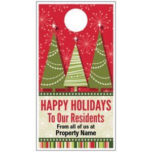 Holiday Door Hanger - Holiday Trees