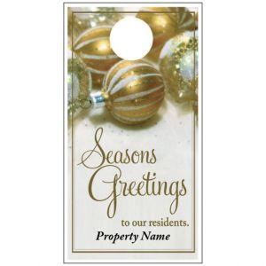 Holiday Door Hanger - Gold Ornaments