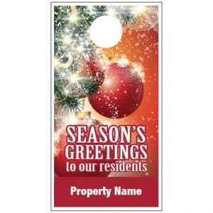 Holiday Door Hanger - Sparkling Ornaments