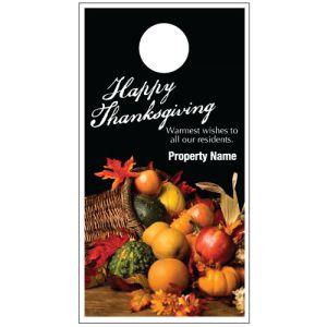 Thanksgiving Door Hanger - Cornucopia
