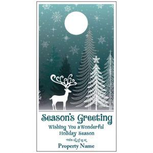 Holiday Door Hanger - Winter Night