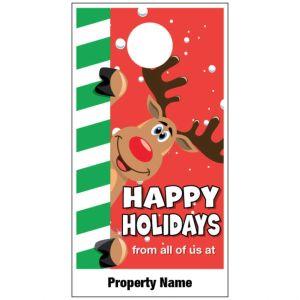 Holiday Door Hanger - Playful Rudolph