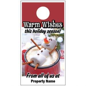 Holiday Door Hanger - Melted Snowman