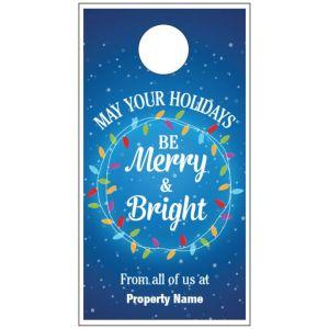 Holiday Door Hanger - Bright Lights