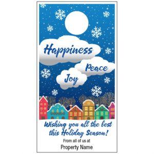 Holiday Door Hanger - Joyful Wishes