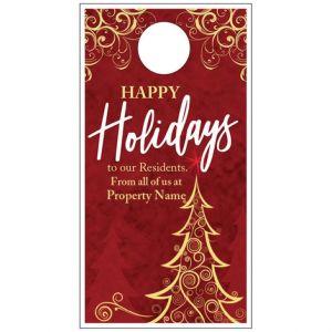 Holiday Door Hanger - Ornate Tree