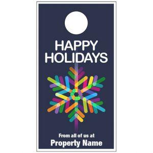 Holiday Door Hanger - Neon Snowflake