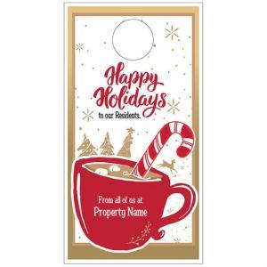 Holiday Door Hanger - Cup of Tidings