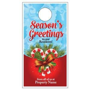 Holiday Door Hanger - Candy Canes