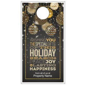 Holiday Door Hanger - Gold Wishes