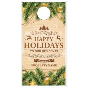 Holiday Door Hanger - Fir Branches