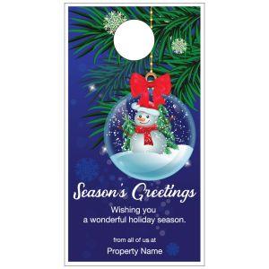 Holiday Door Hanger - Snowman Ornament