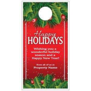 Holiday Door Hanger - Mistletoe