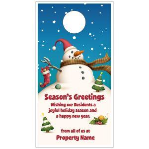 Holiday Door Hanger - Snowman