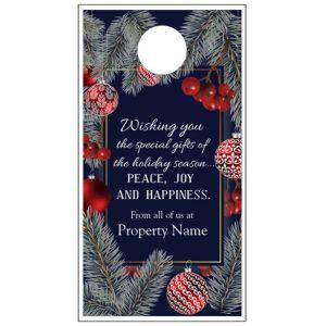 Holiday Door Hanger - Blue Christmas