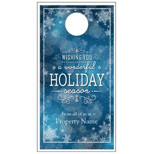 Holiday Door Hanger - Snowflake Wishes