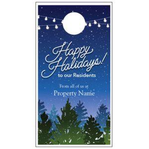 Holiday Door Hanger - Holiday Garland