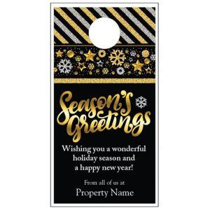 Holiday Door Hanger - Glitter Wish