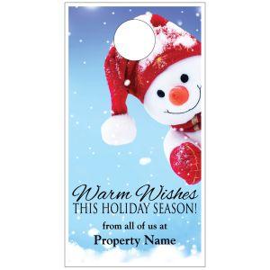 Holiday Door Hanger - Cute Snowman