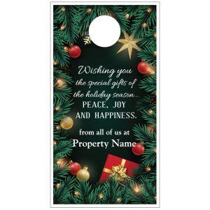 Holiday Door Hanger - Festive Garland