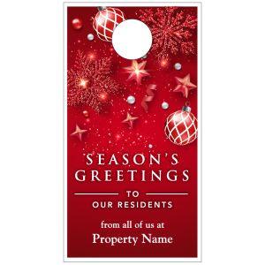 Holiday Door Hanger - Red Decorations