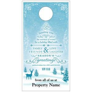 Holiday Door Hanger - Snowscape Wishes