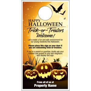 Trick or Treat Door Hanger - Spooky Halloween