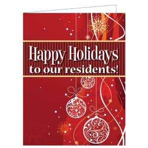 Holiday Card - Red Ornaments
