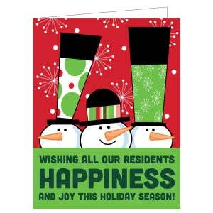 Holiday Card - Three Snowmen