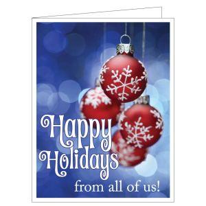 Holiday Card - Snowflake Ornaments