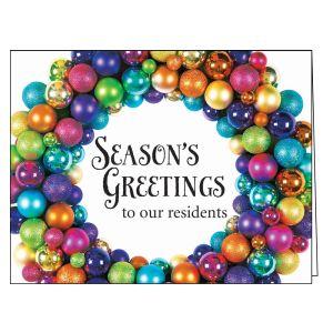 Holiday Card - Ornament Wreath