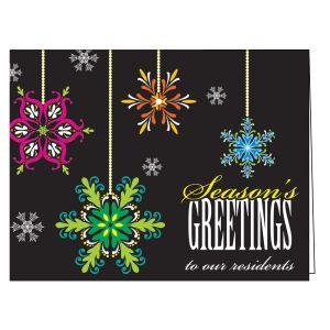 Holiday Card - Vibrant Snowflakes