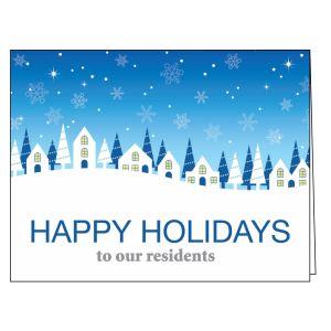 Holiday Card - Snowy Community