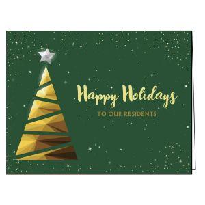 Holiday Card - Geometric Tree