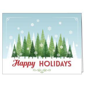 Holiday Card - Forest Snowfall